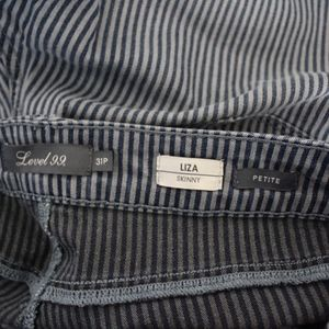 Level 99 Jeans - Level 99 Liza Striped Skinny Jeans Size 31P Petite